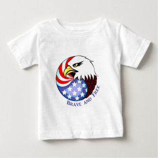 Brave and Free American Eagle Baby T-Shirt