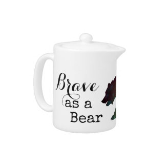Brave as a Bear Watercolor Typography