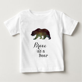 Brave as a Bear Watercolor Typography Baby T-Shirt