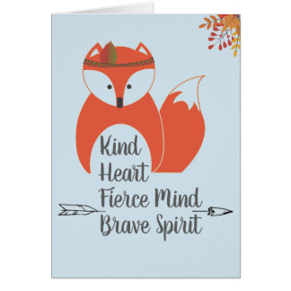 Brave Autumn Fox Card