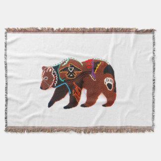 Brave Bear Throw Blanket