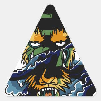 Brave Dragon Triangle Sticker