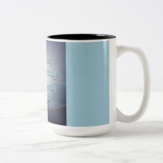 Brave enough to say goodbye Two-Tone mug