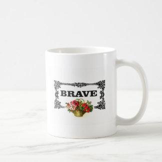 brave flower art coffee mug