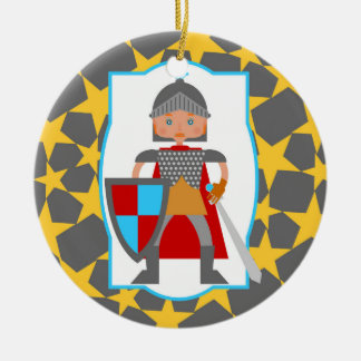 Brave Knight Boy Birthday Party Ceramic Ornament