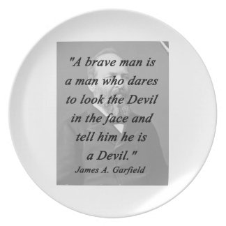 Brave Man - James Garfield Plate