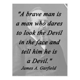 Brave Man - James Garfield Postcard