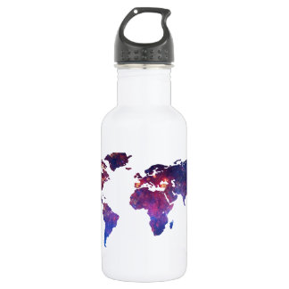Brave New World Map 532 Ml Water Bottle
