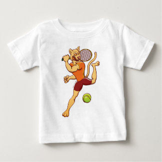 Brave puma smashing a tennis ball baby T-Shirt