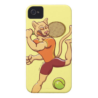 Brave puma smashing a tennis ball iPhone 4 Case-Mate cases
