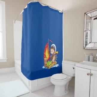 Brave sailor shower curtain