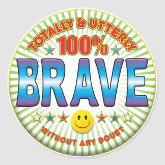 Brave Totally Classic Round Sticker