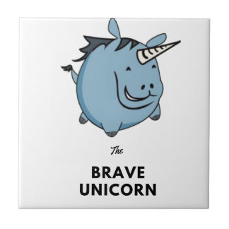 Brave Unicorn Ceramic Tile