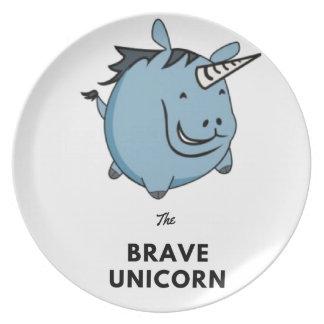 Brave Unicorn Plate