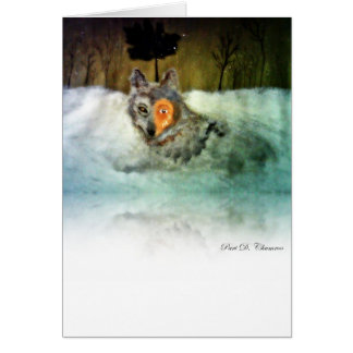 Brave Wolf Greeting Card