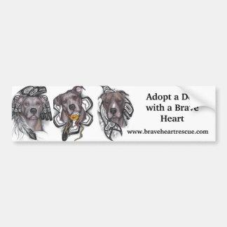BraveHeart Pit Bull Rescue Bumper Sticker