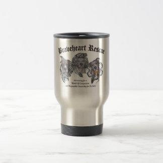 BraveHeart Pit Bull Rescue Logo Travel Mug
