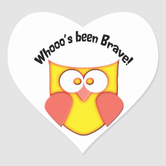 Bravery Cute Owl Heart Sticker