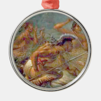 braves in battle metal ornament