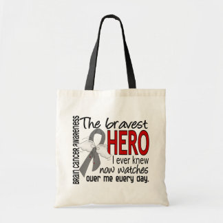 Bravest Hero I Ever Knew Brain Cancer Canvas Bags