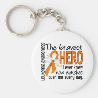 Bravest Hero I Ever Knew Leukemia Basic Round Button Key Ring