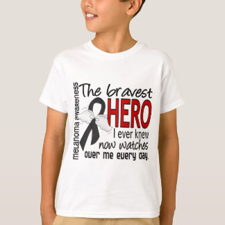 Bravest Hero I Ever Knew Melanoma Tshirt
