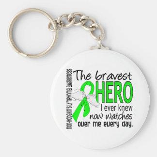 Bravest Hero I Ever Knew Non-Hodgkin's Lymphoma Key Ring