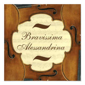 Bravissima Custom Name Music Congratulation Female Magnetic Invitations