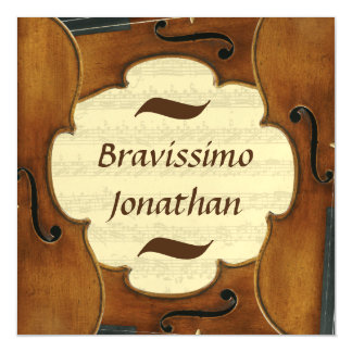 Bravissimo Custom Name Music Congratulations Male Magnetic Invitations