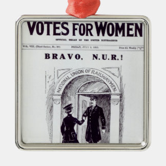 Bravo, N.U.R!, front cover of 'Votes for Silver-Colored Square Decoration