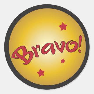 BRAVO recognition and appreciation Round Sticker