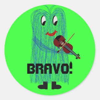 Bravo! Round Sticker