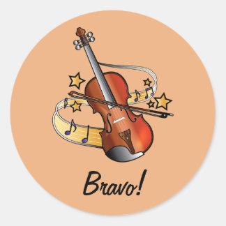Bravo Sticker for Boy Violin Student