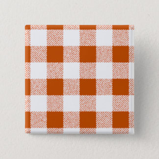brawn gingham check 15 cm square badge