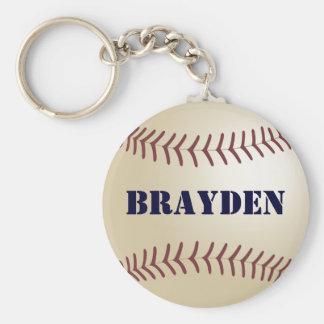 Brayden Baseball Keychain