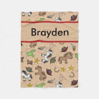 Brayden's Personalized Cowboy Blanket