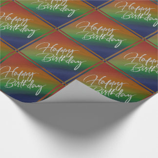 Brazen Birthday | Rainbow ROYGBIV Colorful Party Wrapping Paper