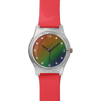 Brazen Bling | Colorful Ombre Rainbow Pride Flag Watches