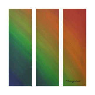 Brazen Original | Rainbow Ombre Modern Abstract Canvas Print