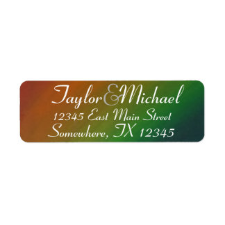 Brazen Wedding   Ombre Rainbow Colorful Address Return Address Label