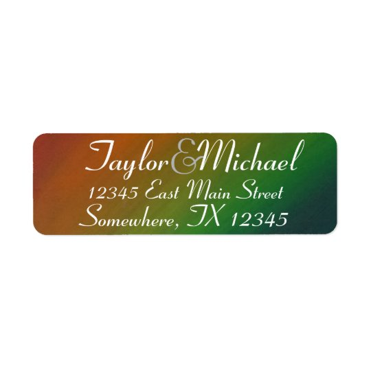 Brazen Wedding | Ombre Rainbow Colourful Address Return Address Label
