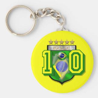 Brazil 10 Brasil number 10 soccer futebol gifts Key Chains