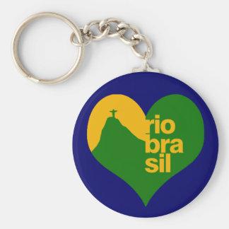 Brazil 2014 RJ Basic Round Button Key Ring