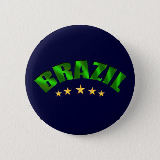 Brazil 5 star World Champions Soccer Gifts 6 Cm Round Badge