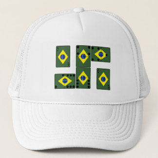 Brazil Ace Cards and Domino's Trucker Hat