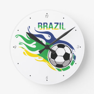 Brazil and Soccer Clock
