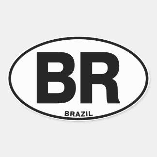 Brazil BR Oval International Identity Code Letters Oval Sticker