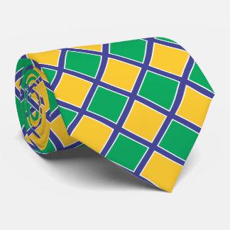 Brazil Brasil Flag Colors II Tie