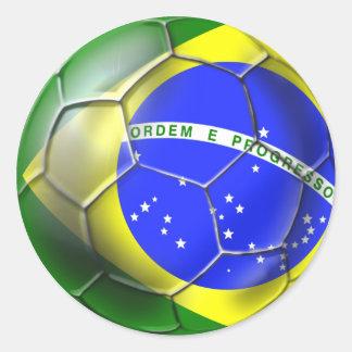 Brazil Brasil Samba football Brazilian flag ball Sticker