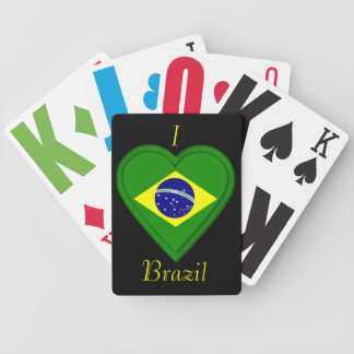 Brazil Brazilian Flag Bicycle Playing Cards